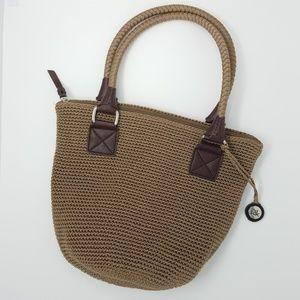 The Sak Crochet Tan Shoulder Bag
